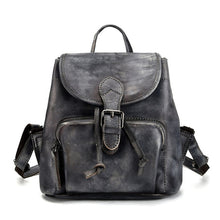 Load image into Gallery viewer, BJYL New retro first layer leather backpack casual backpack female hand-brushed leather tree high leather bag - LiveTrendsX