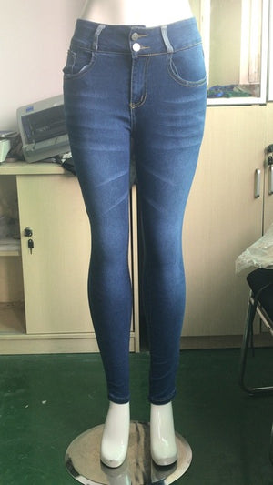 Skinny Jeans Woman High Waist Plus Size Streetwear Blue Ladies Denim Pants Women Sexy Push Up Vintage Tight Freddy Fringe Jeans - LiveTrendsX