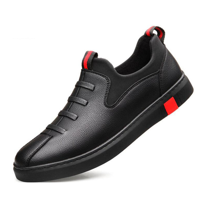 New Fashion Male Black leather flats Shoes Men Loafers Shoes Korea Flats driving boat Shoes men casual sneaker shoes - LiveTrendsX