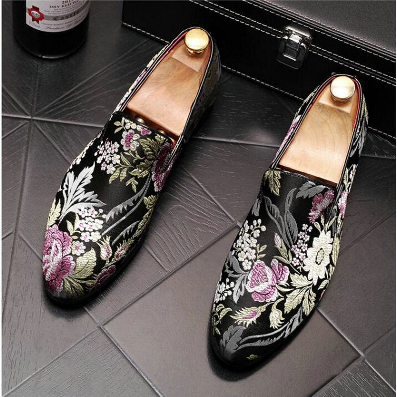Plus Size 48 Handmade Formal Shoes Fashion Man Casual Flats Men Exquisite Embroidery Leather loafers driving Shoes - LiveTrendsX