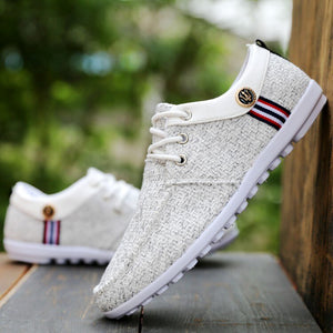 Casual Shoes mens canvas shoes for men shoes men fashion Flats brand fashion Zapatos de hombre Breathable Korean linen men's - LiveTrendsX