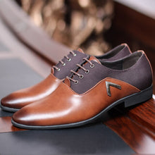 Load image into Gallery viewer, Pointed Shoes Big Size 38-47 Business Men's Basic Casual Shoes,Black/Brown Leather Cloth Elegant Design Handsome WW-527 - LiveTrendsX