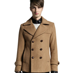 Tailor-made Trench  new V-neck Thicken Warm Men's Wool Coats British Style Mens Winter Coat Fit Overcoat Manteau Homme - LiveTrendsX