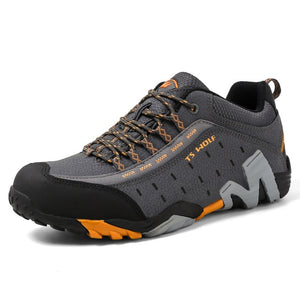 genuine leather outdoor sport shoes men male hiking shoes non-slip mountain climbing trekking shoes men hiking sneakers zapatos - LiveTrendsX