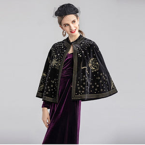 Runway Designer Autumn Winter Cloak Jacket Women Elegant Beading Party Luxury Vintage Short Women Tops Coat Jacket Cloak 2019 - LiveTrendsX