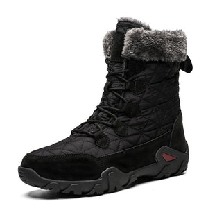 Unisex Ankle Boots Sneakers Men Casual Shoes Waterproof Snow Boots for Male Adult Winter Warm Short Plush Footwear Size 47 - LiveTrendsX