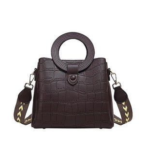 Women's handbag luxury high quality fashion ladies crocodile pattern shoulder diagonal bag - LiveTrendsX