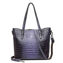 Load image into Gallery viewer, luxury high quality ladies handbag 2019 new fashion ladies crocodile pattern shoulder diagonal bag large capacity tote bag - LiveTrendsX
