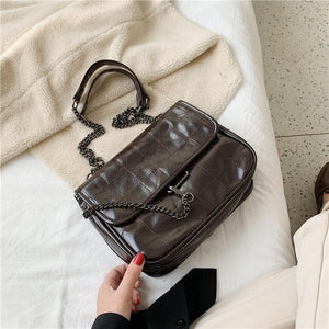 Soft PU Leather Crossbody Bags For Women 2020 Chain Design Shoulder Messenger Bag Lady Small Handbags Black Bags - LiveTrendsX
