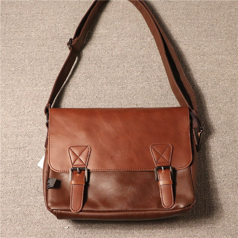 Vintage Pu Leather Postman Crossbody Bags For Brand Men Shoulder Messenger Male Bag Laptop Business Case Retro - LiveTrendsX