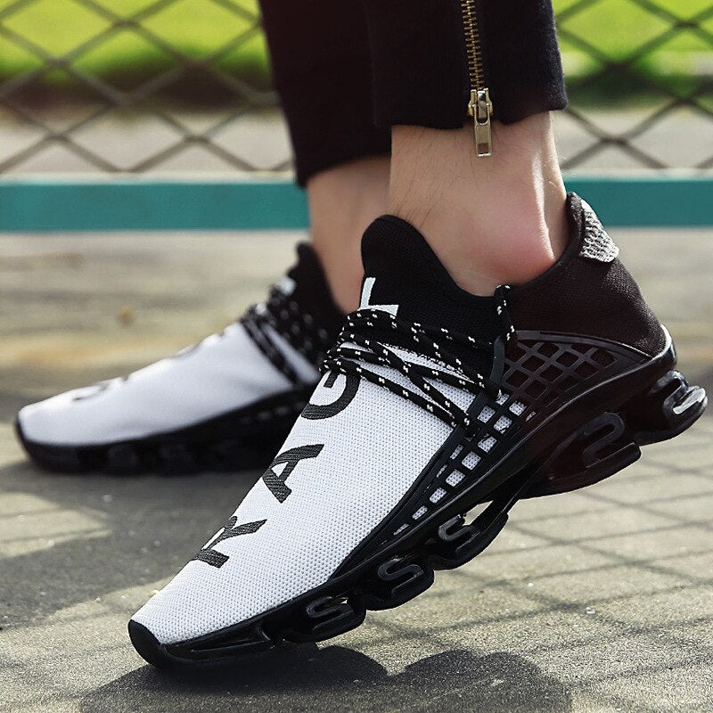 New Black slingshot Running Shoes Lovers Breathable Outdoor Sport Shoes Summer Cushioning Male Shockproof Sole Sneakers - LiveTrendsX