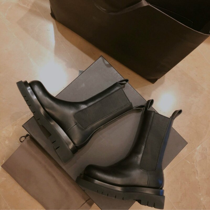 New Winter Boots Ladies Black Boots Chelsea Boots Women Slip on Bota Feminina Platfrom Botas Mujer Short Boots Gladiator Boots - LiveTrendsX