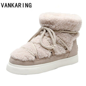 women shoes warm fur ankle boots for women snow boots shoes Russia winter boots female outdoor casual shoes women flats