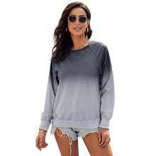 Load image into Gallery viewer, Women's New European and American Gradual Change Pullover Round Neck Long Sleeve Casual Loose Sweatshirt In Spring and Autumn - LiveTrendsX