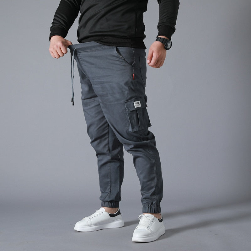Wear-resistant Multi-pocket Cargo Pants Trousers Plus Size work overalls Jogger Super Loose Men Cotton Casual Pants - LiveTrendsX