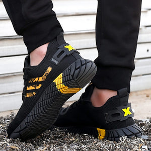 Breathable Men's Safety Shoes Boots With Steel Toe Cap Casual Men's Boots Work Indestructible Shoes Puncture-Proof Work Sneakers - LiveTrendsX