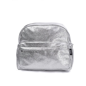 extured Silver Travelling Diaper Bag Fashionable Large Capacity Nappy Bags Stylish Maternity Baby Stroller Bags/Backpack - LiveTrendsX