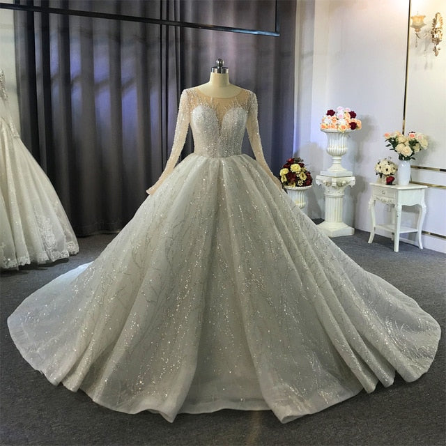 robe de mariee princesse de luxe wedding dress princess puffy wedding gowns - LiveTrendsX