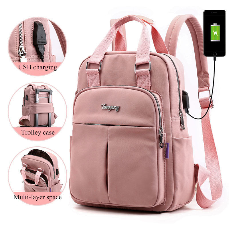 Girls Laptop Backpacks Pink Men USB Charging Bagpack Women Travel Backpack School bags Bag For boys Teenage mochila escolar - LiveTrendsX