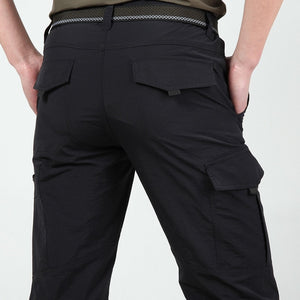 Men's Lightweight Tactical Pants Breathable Summer Casual Army Military Long Trousers Male Waterproof Quick Dry Cargo Pants - LiveTrendsX