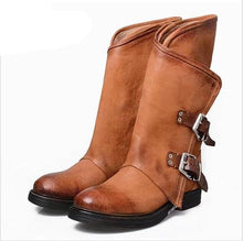 Load image into Gallery viewer, New autumn/winter  low heel side with belt buckle boots in female 40-43 - LiveTrendsX