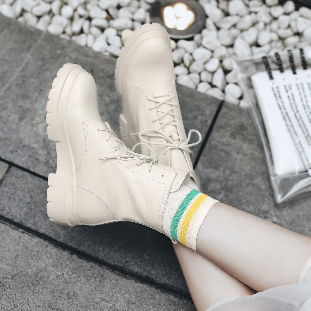 Women Genuine Leather Boots fashion Handmade autumn and winter Classic women's short boots warmshort boots plush shoes