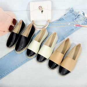 Women's Shoes New Fashion Genuine Leather Flat Shoes Classical Brand Designers Women Spring Autumn Espadrilles Loafers Shoes - LiveTrendsX