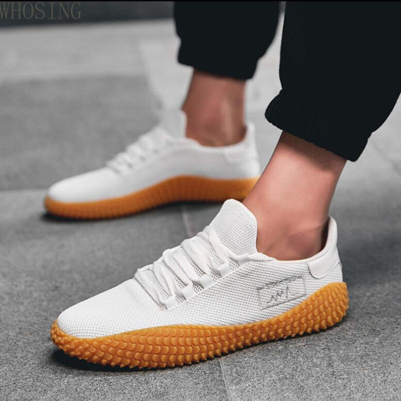 Men Casual Shoes 2020 New Spring Summer Ultra-light Sneakers For Men Fashion Mesh Breathable Vulcanized Shoes Male White Shoes - LiveTrendsX