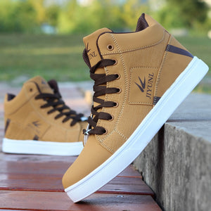 Men's High Top Sneakers Casual Skateboarding Shoes Sports Shoes  Breathable Hip Hop Walking Shoes Street Shoes Chaussure Homme - LiveTrendsX