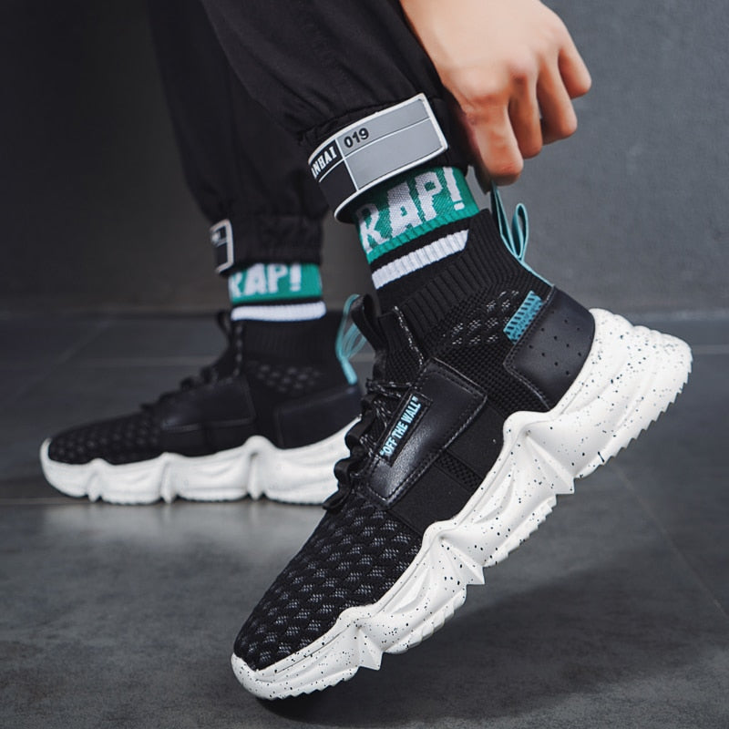 Men's High Top Sneakers Skateboarding Shoes Sports Shoes Casual Sneakers Hip Hop Shoes Street Sneakers Chaussure Homme footwear - LiveTrendsX