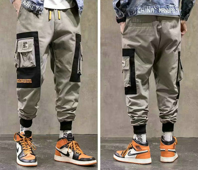 Streetwear Men's Multi Pockets Cargo Harem Pants Hip Hop Casual Male Track Pants Joggers Trousers Fashion Harajuku Men Pants - LiveTrendsX