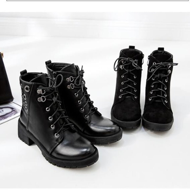 Woman Boots Women Shoes Ladies Thick Fur Ankle Boots Women High Heel Platform Rubber Shoes Boot - LiveTrendsX