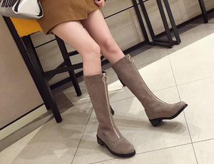 New round head front zipper Martin boot for women free shipping shoes size 35-39