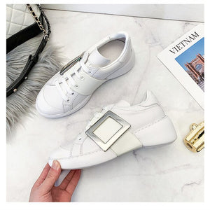 Sweeheart 2020 new leather women's shoes buckle sports women's shoes casual sports women's shoes fashion women's shoes 35-40