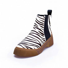 Load image into Gallery viewer, Hot Ladies Short Booties Horsehair Striped Mixed Color Women Ankle Boots Platform Slip-On Botas Mujer Shoes Woman - LiveTrendsX