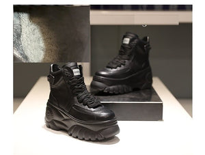 women basic white lace up motorcycle boots casual shoes fashion genuine leather ankle boots round toe