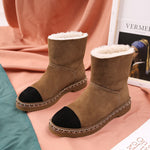 Snow Boots Women Winter Women Shoes Ankle Boots Ladies New Brand Sapato Feminino Mixed Color Botas Mujer  Chain Warm Botas - LiveTrendsX