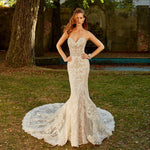All Over Appliques Beading Shiny Trumpet Wedding Gowns Vestido De Noiva Sereia Sweetheart Neck Backless Illusion Mermaid Dresses - LiveTrendsX