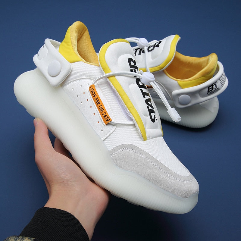Fashion High Top Men Sneakers Loafers Men Platform White Chunky Sneakers Men Hip Hop Street Shoes Tenis Masculino - LiveTrendsX