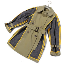 Load image into Gallery viewer, Women Plaid Split Both Side Wear Trench New Lapel Long Sleeve Loose Fit Windbreaker Fashion Tide Spring Autumn 2020 - LiveTrendsX
