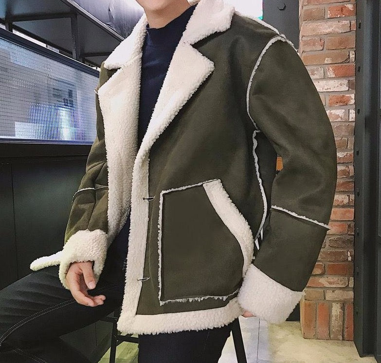 Autumn Winter Warm Parka Coats For Men Korean Man Casual Lambswool Jackets 2020 Harajuku Male Plus Size Parkas 5XL