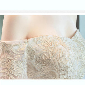 New French Style Maternity Clothes Summer Simple White Boat-neck Short Sleeve Flower Lace Elegent Long Tail Maternity Dress - LiveTrendsX