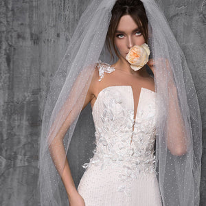 Lace Flowers Mermaid Wedding Dresses  Vestidos Elegantes O-neck Buttons Up Vintage Trumpet Bride Gowns - LiveTrendsX