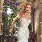 Appliques Beaded Crystal Sequined Shiny Mermaid Gowns Robe De Mariee Sirene Shoulder Straps Backless Sexy Trumpet Dress - LiveTrendsX