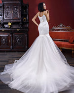 Custom Made Beading Appliques Lace Mermaid Wedding Dress Vestido De Novia Sirena Spaghetti Straps Lace Up White Bridal Gowns - LiveTrendsX