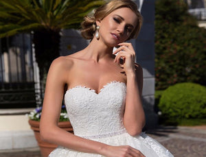 Princess 2 iN 1 Ball Gown Wedding Dresses With Half Sleeve Beading Pearls Waist vestido de novia 2 en 1 Appliques White Gowns - LiveTrendsX