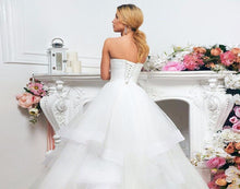 Load image into Gallery viewer, New Arrivals Wedding Gowns Robe De Mariée Sweetheart Neck Lace Up Appliques Beading Sequined Waist Pleat Bridal Gowns None Train - LiveTrendsX