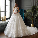 Princess Wedding Dresses A-line 2020 Vestidos De Novia Renda Floor Length Pearls Lace Wedding Gowns Plus Size Suknia Slubna - LiveTrendsX