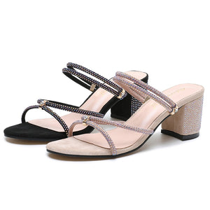 summer Women Open Toe Office High Heels Sandal Shoes Ladies  Fashion Leisure Thick Platform Belt Buckle Party Sandals