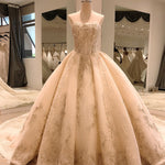 ball gown wedding dress strapless 2020 lace beaded corset elegante church femme luxury modest - LiveTrendsX